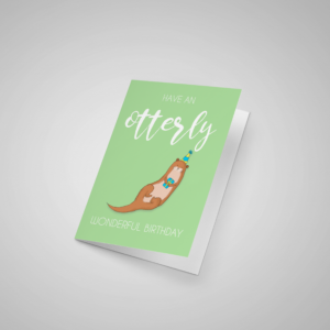 Otterly Birthday Card Pun