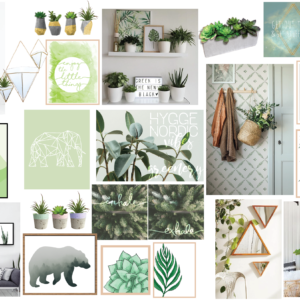 Green Mood Board